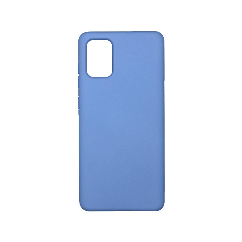 Θήκη Samsung Galaxy A71 Silky and Soft Touch Silicone λιλά