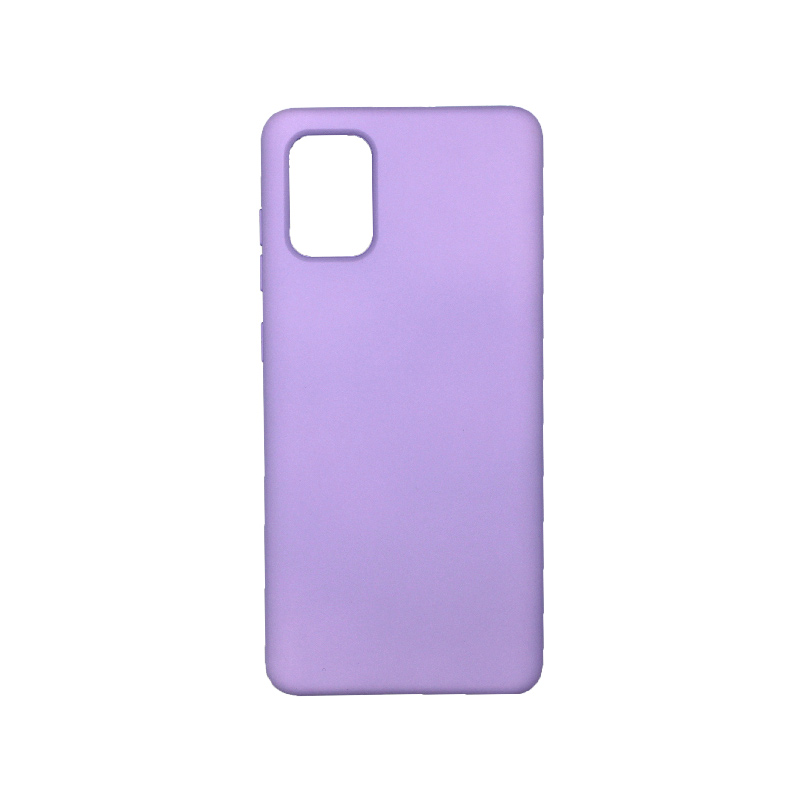Θήκη Samsung Galaxy A71 Silky and Soft Touch Silicone μωβ