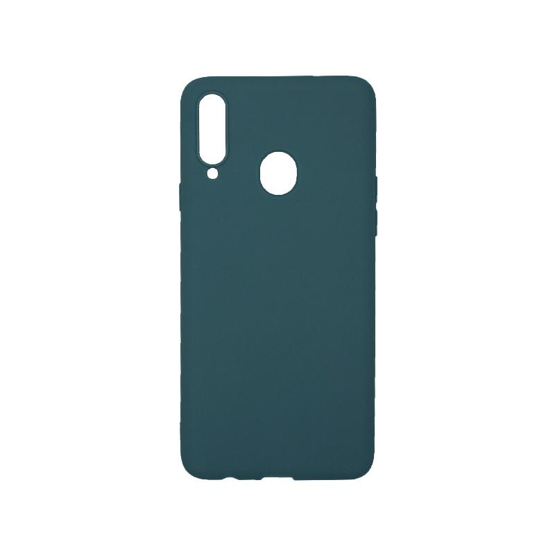 Θήκη Samsung Galaxy A20s Σιλικόνη πετρόλ