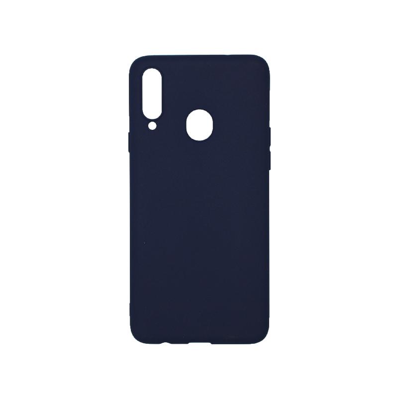 Θήκη Samsung Galaxy A20s Σιλικόνη σκούρο μπλε