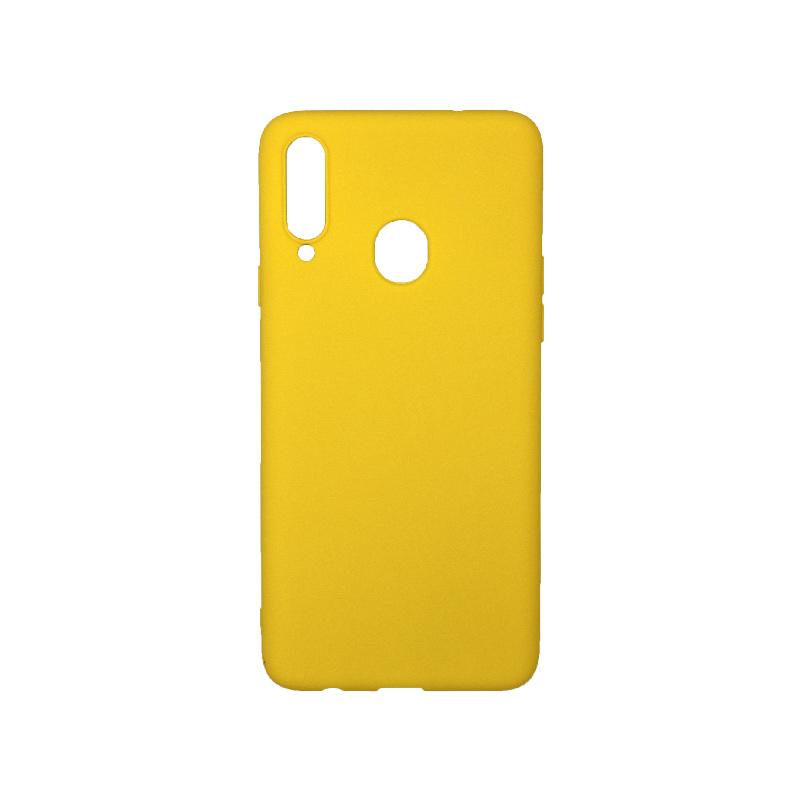 Θήκη Samsung Galaxy A20s Σιλικόνη κίτρινο