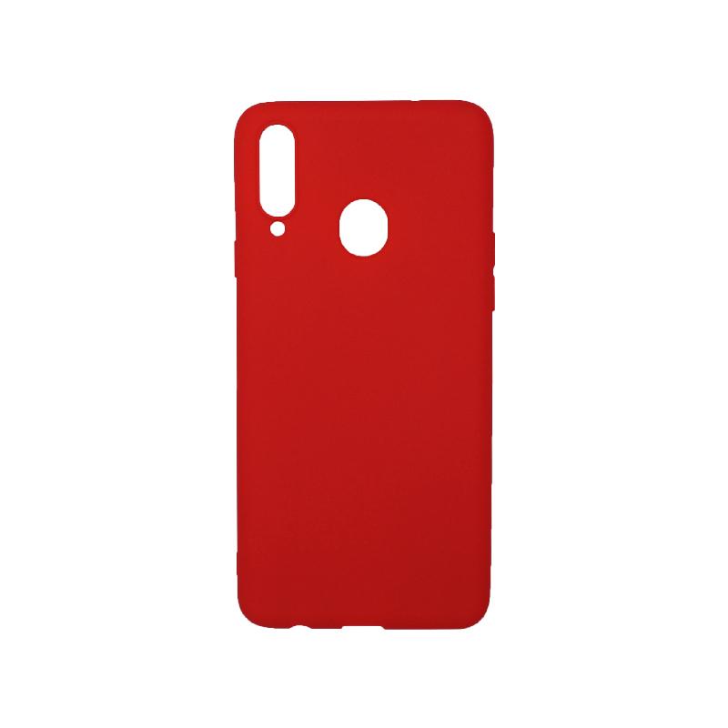 Θήκη Samsung Galaxy A20s Σιλικόνη κόκκινο