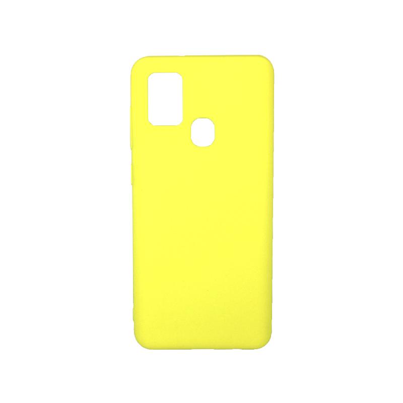 Θήκη Samsung Galaxy A21s Σιλικόνη κίτρινο