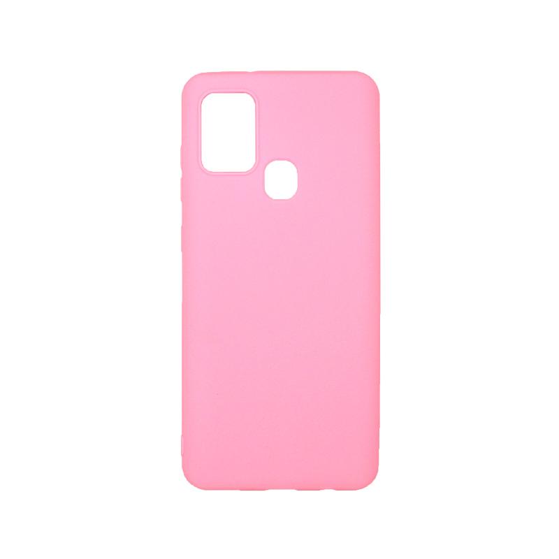 Θήκη Samsung Galaxy A21s Σιλικόνη ροζ