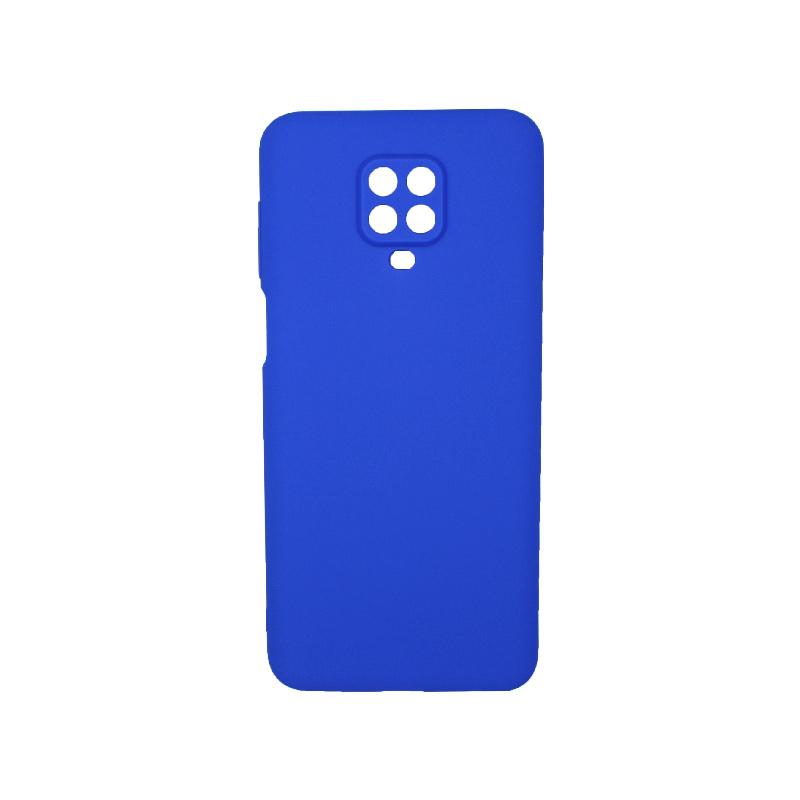 Θήκη Xiaomi Redmi Note 9S / Note 9 Pro / Note 9 Pro Max Σιλικόνη Με εσοχές Μπλε