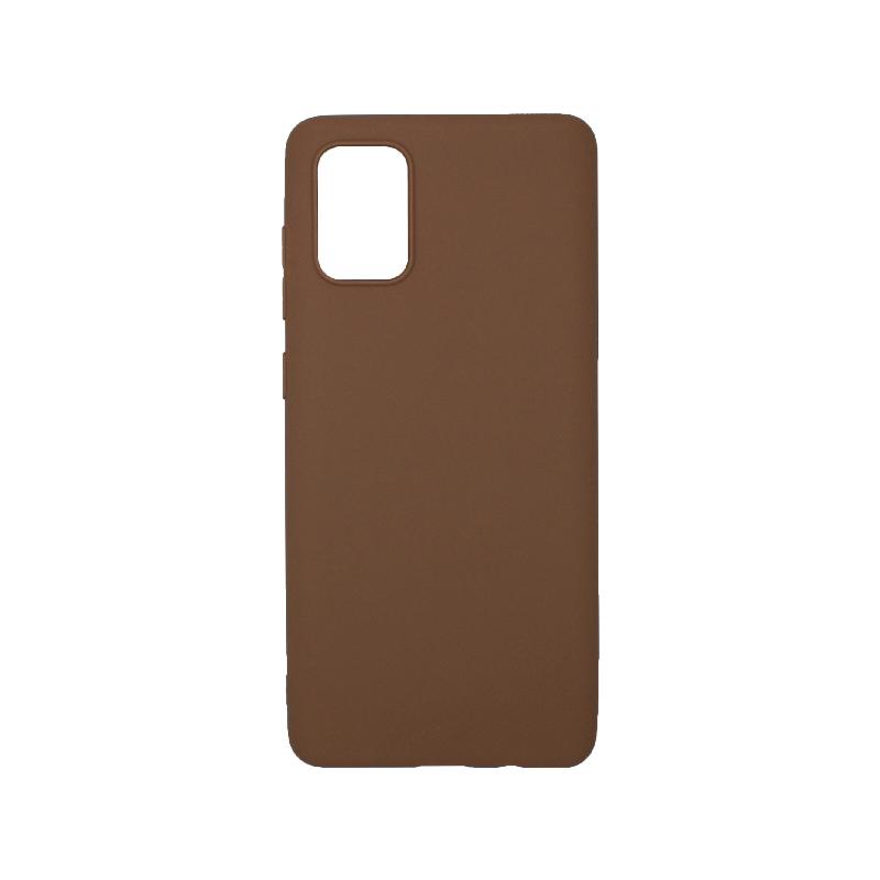 Θήκη Samsung Galaxy A71 Σιλικόνη καφέ
