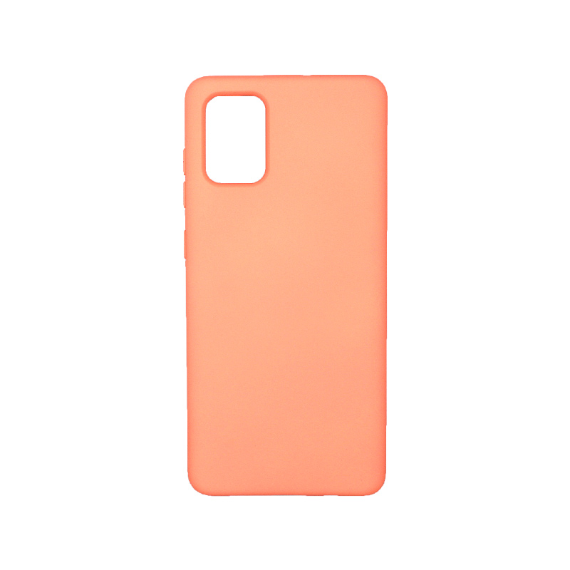 Θήκη Samsung Galaxy A71 Silky and Soft Touch Silicone πορτοκαλί