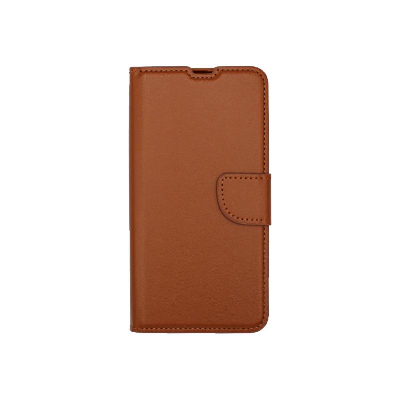 Θήκη Samsung Galaxy A31 Wallet Καφέ
