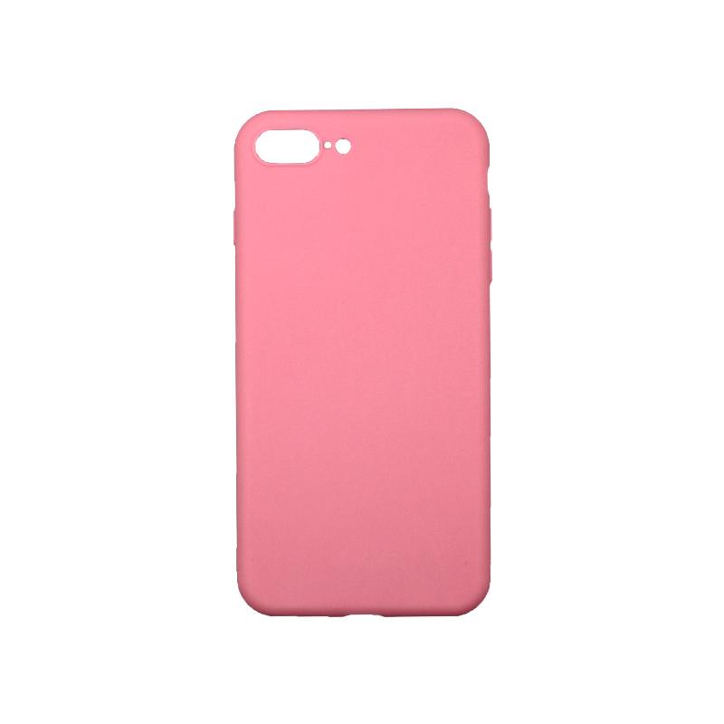 Θήκη iPhone 7 Plus / 8 Plus Σιλικόνη Ροζ