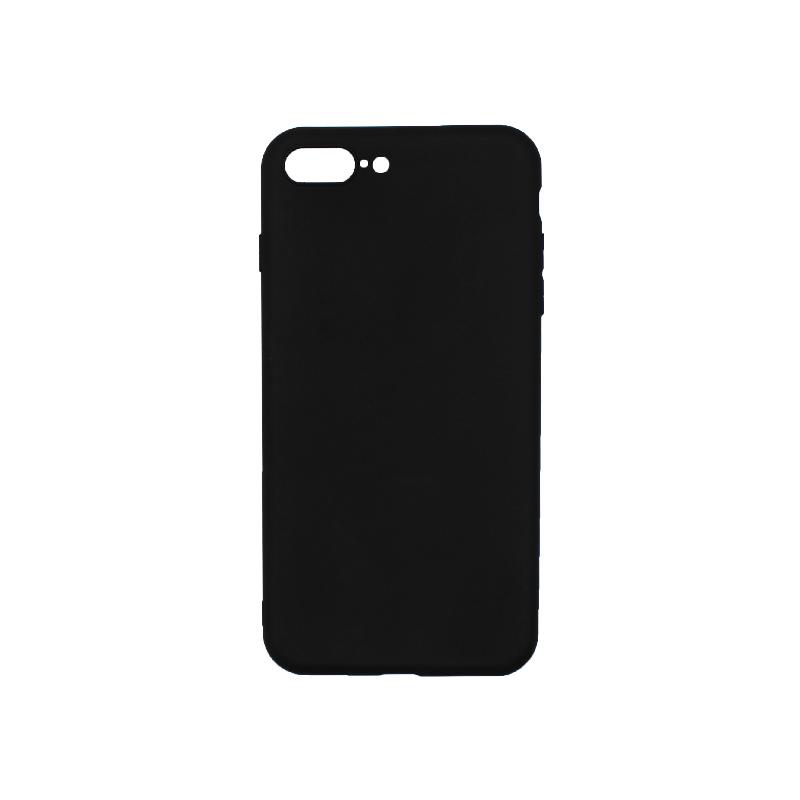 Θήκη iPhone 7 Plus / 8 Plus Σιλικόνη Μαύρο