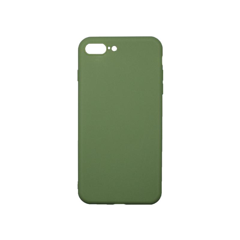 Θήκη iPhone 7 Plus / 8 Plus Σιλικόνη Λαδί