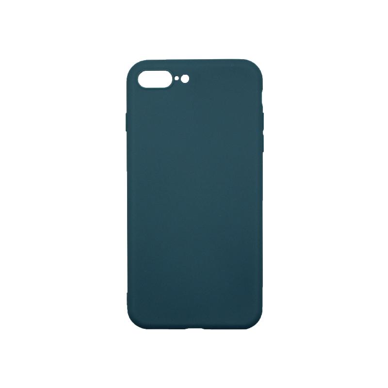 Θήκη iPhone 7 Plus / 8 Plus Σιλικόνη Πετρόλ