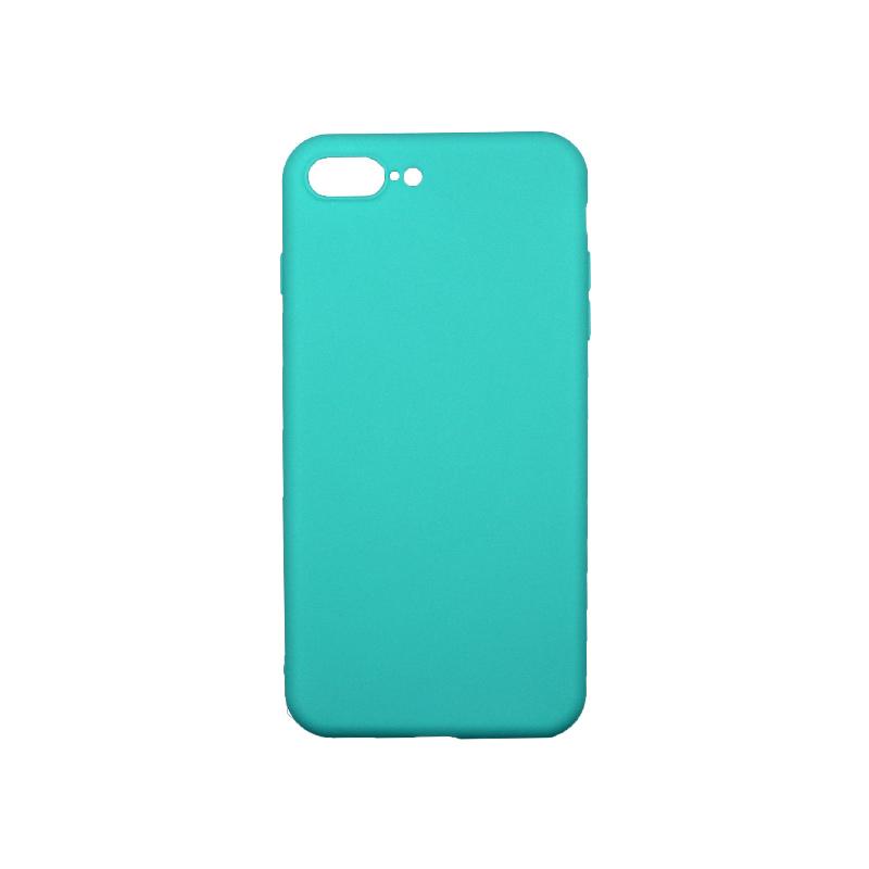 Θήκη iPhone 7 Plus / 8 Plus Σιλικόνη Τιρκουάζ