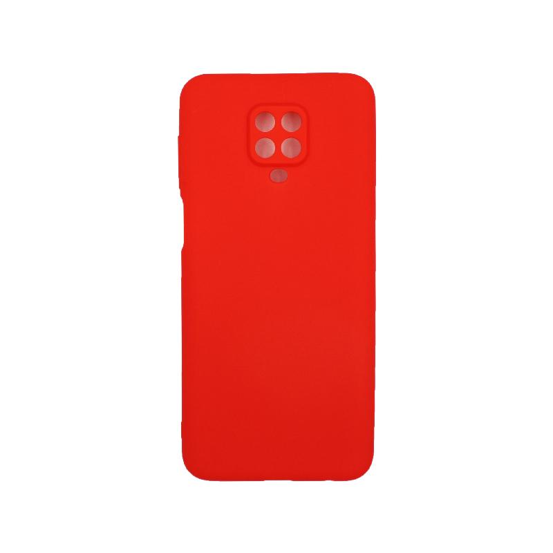 Θήκη Xiaomi Redmi Note 9S / Note 9 Pro / Note 9 Pro Max Σιλικόνη Με εσοχές κόκκινο
