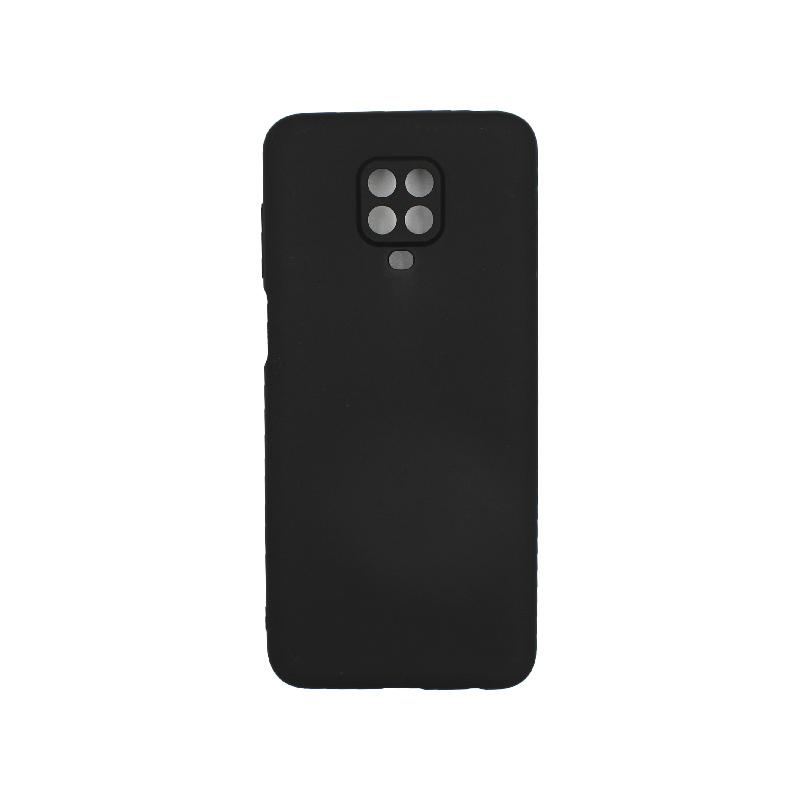 Θήκη Xiaomi Redmi Note 9S / Note 9 Pro / Note 9 Pro Max Σιλικόνη Με εσοχές Μαύρο