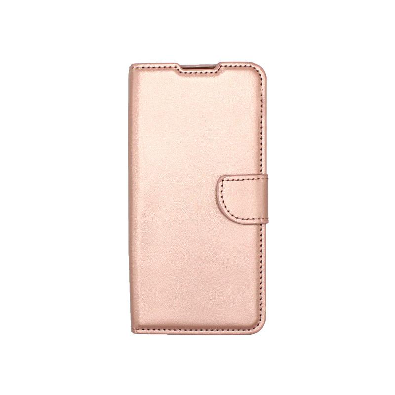 Θήκη Xiaomi Redmi 9 Wallet Ροζ Χρυσό