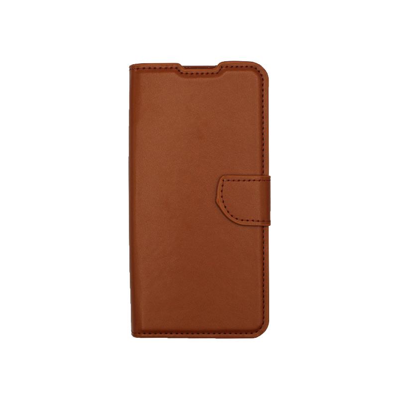 Θήκη Xiaomi Redmi 9 Wallet Καφέ