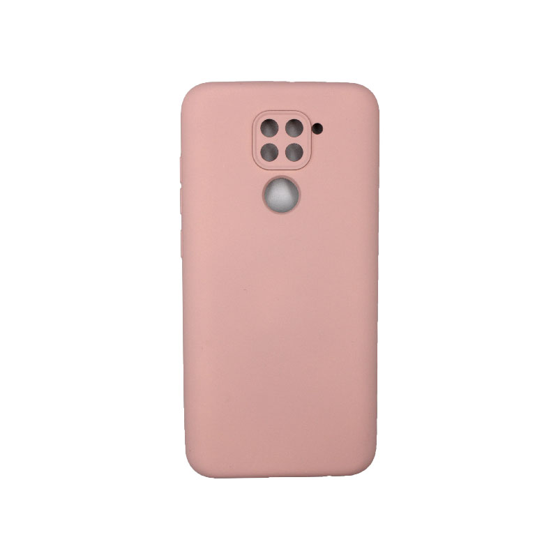 Θήκη Xiaomi Redmi Note 9 Silky and Soft Touch Silicone με τρύπες απαλό ροζ 1