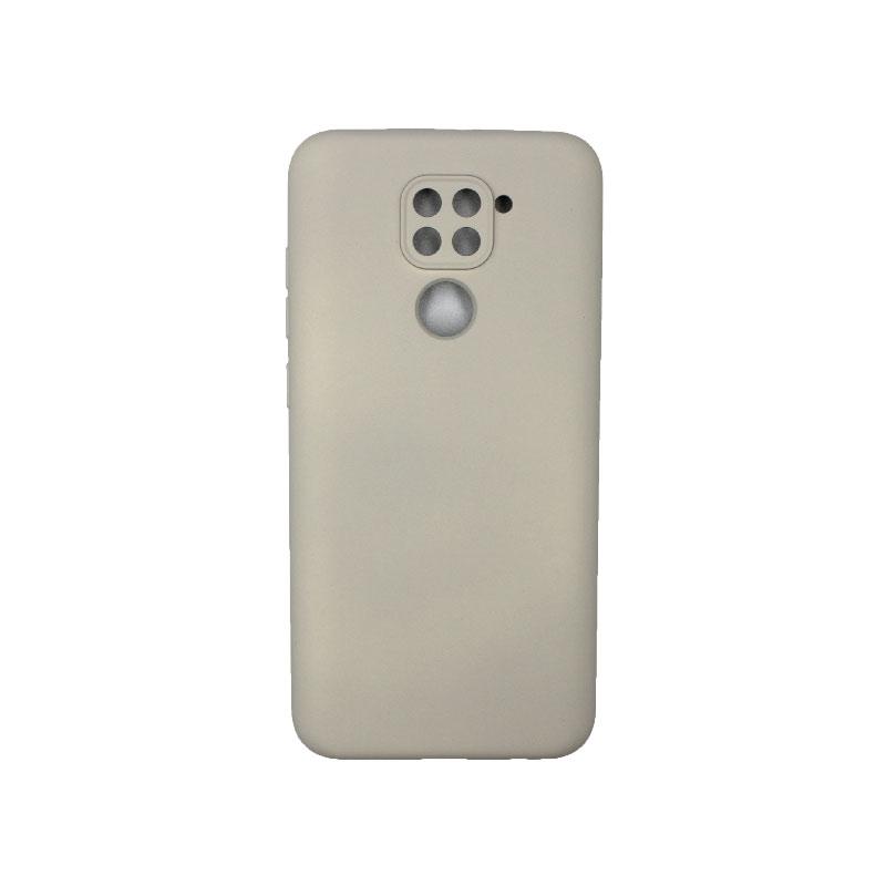 Θήκη Xiaomi Redmi Note 9 Silky and Soft Touch Silicone με τρύπες γκρι 1