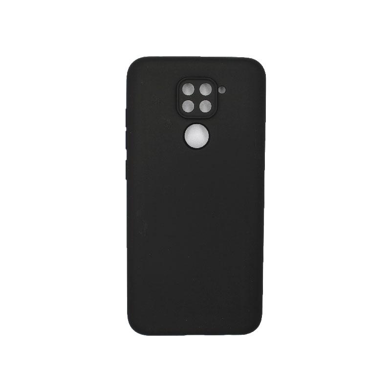 Θήκη Xiaomi Redmi Note 9 Silky and Soft Touch Silicone με τρύπες μαύρο 1