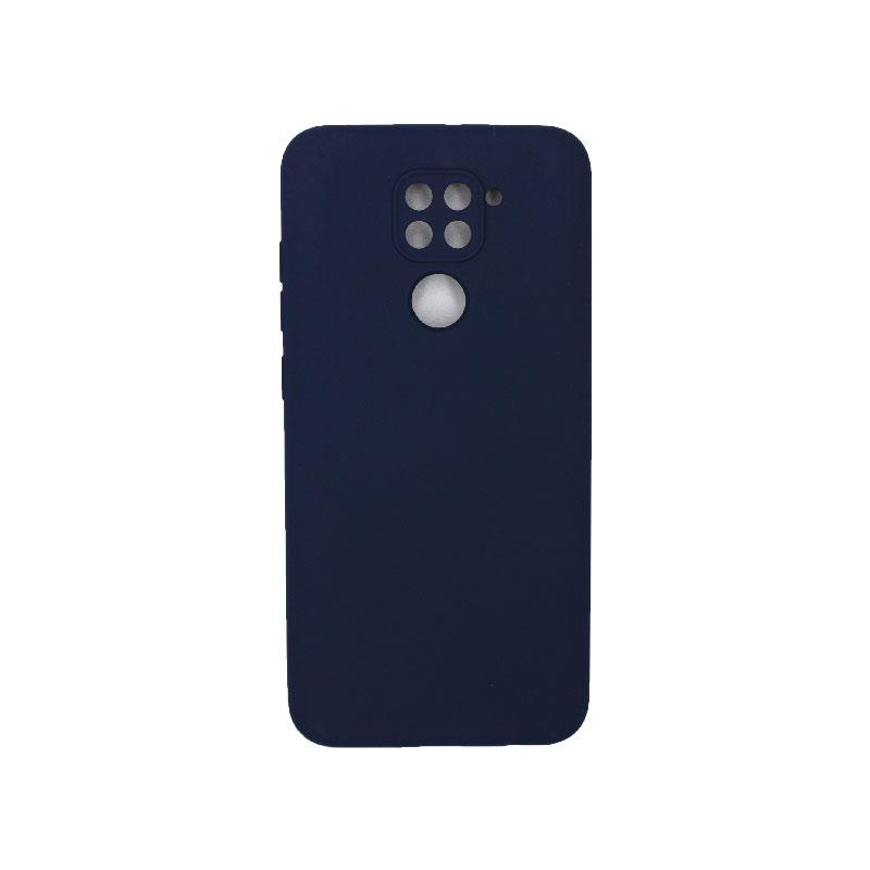 Θήκη Xiaomi Redmi Note 9 Silky and Soft Touch Silicone με τρύπες μπλε 1