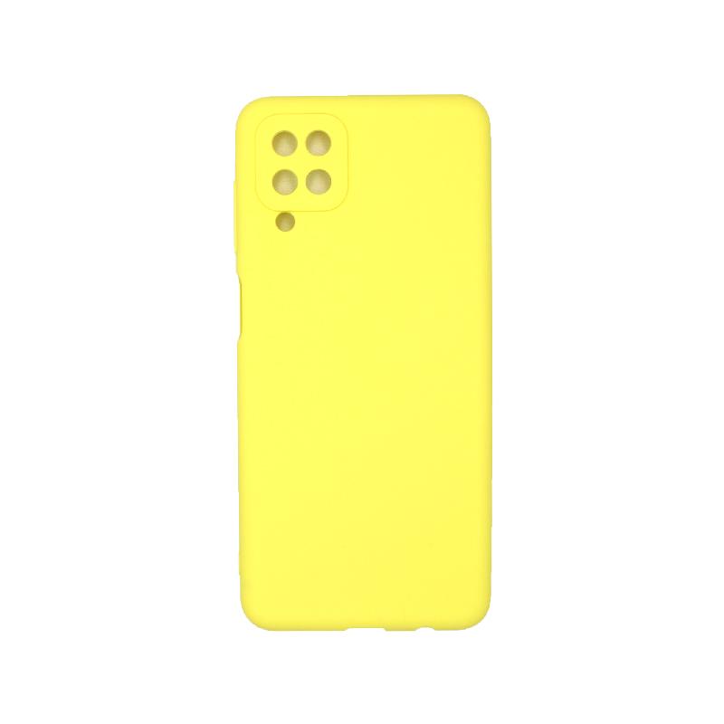 Θήκη Samsung Galaxy A12 Σιλικόνη κίτρινο