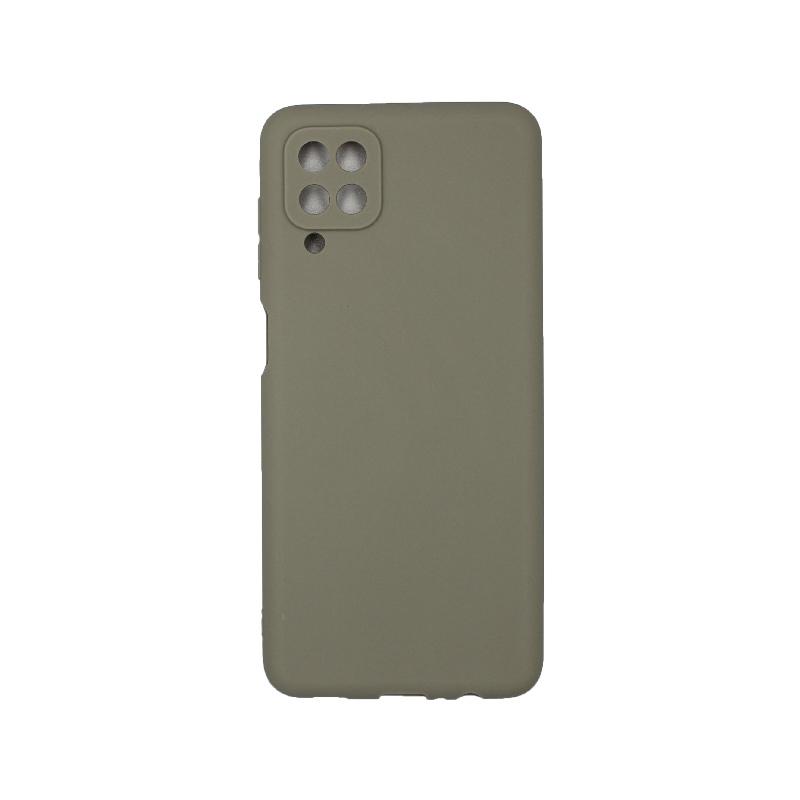 Θήκη Samsung Galaxy A12 Σιλικόνη γκρι
