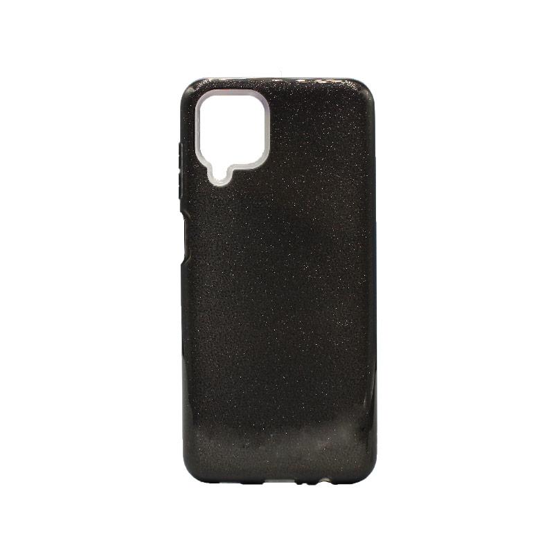 Θήκη Samsung Galaxy A12 Glitter μαύρο