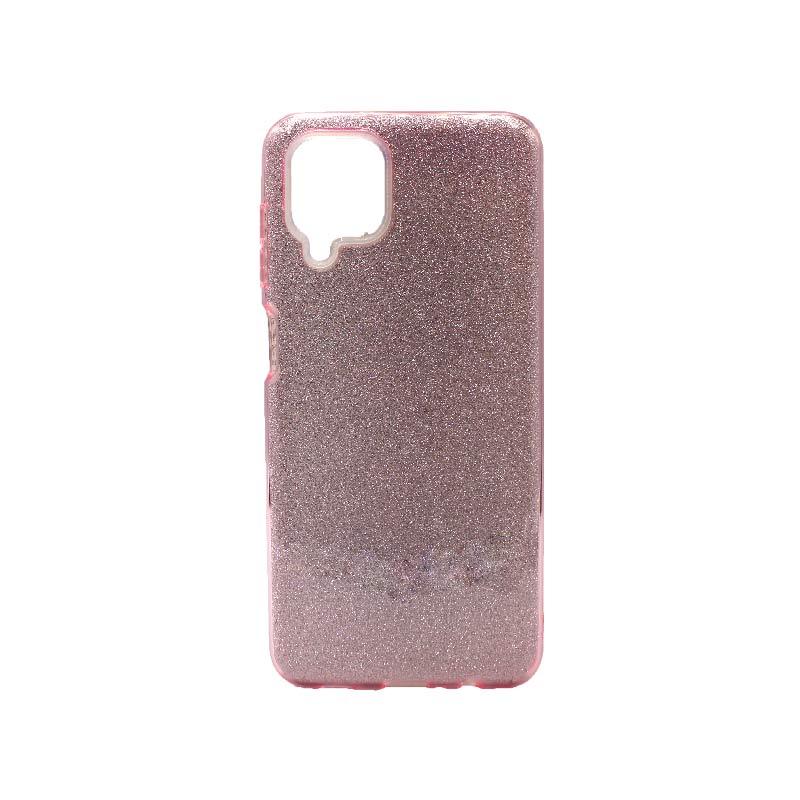 Θήκη Samsung Galaxy A12 Glitter ροζ