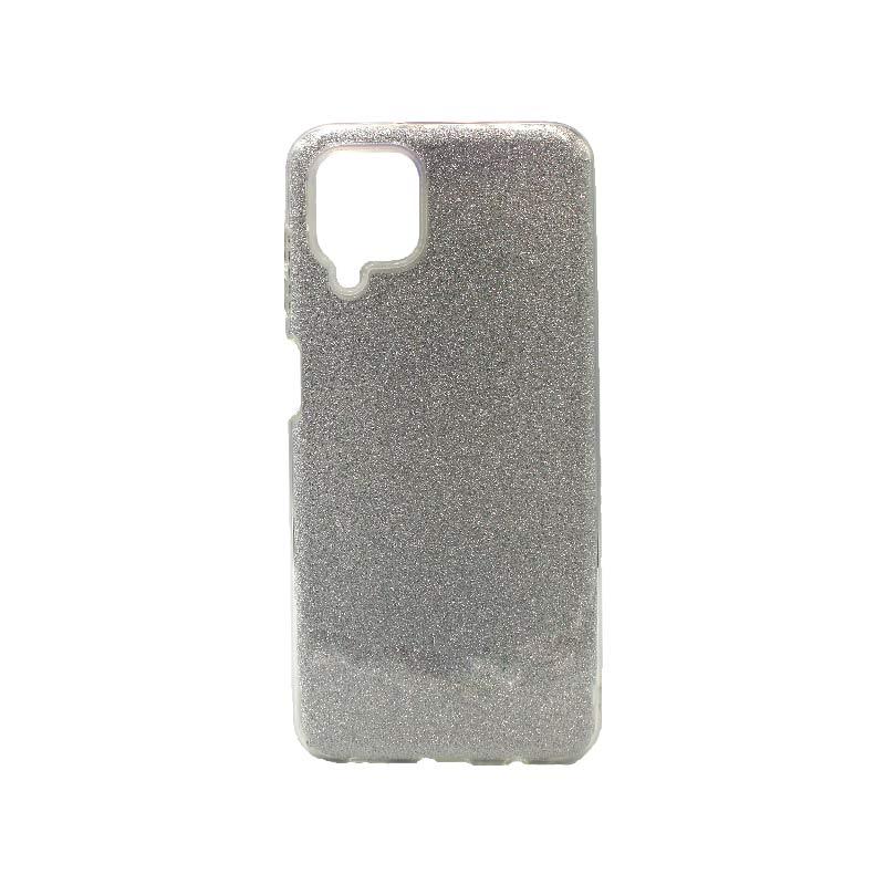 Θήκη Samsung Galaxy A12 Glitter ασημί