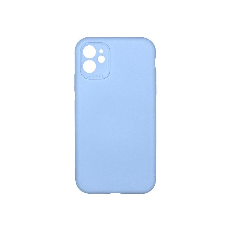 Θήκη iPhone 11 Silky and Soft Touch Silicone με εσοχές Γαλάζιο 1