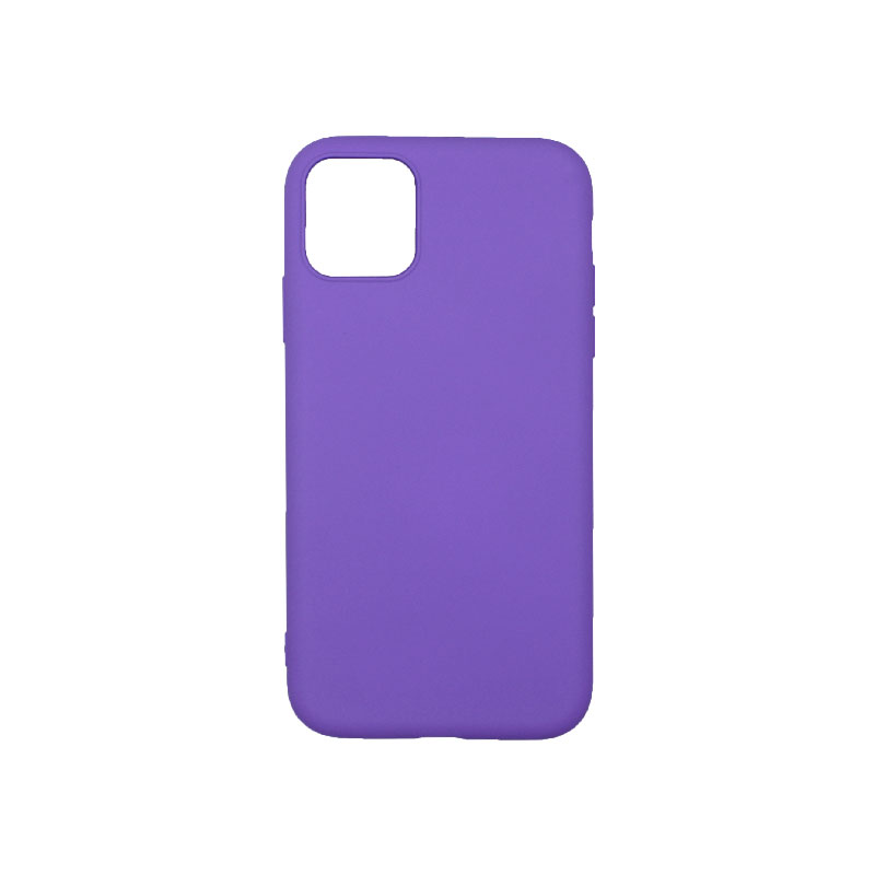 Θήκη iPhone 11 Silky and Soft Touch Silicone μωβ 1