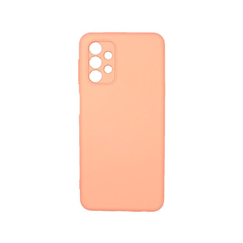 Θήκη Samsung Galaxy A32 5G Silky and Soft Touch Silicone πορτοκαλί 1