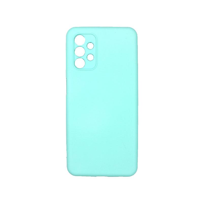 Θήκη Samsung Galaxy A32 5G Silky and Soft Touch Silicone τιρκουάζ 1
