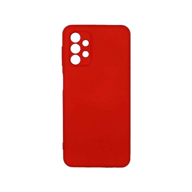 Θήκη Samsung Galaxy A32 5G Silky and Soft Touch Silicone κόκκινο 1
