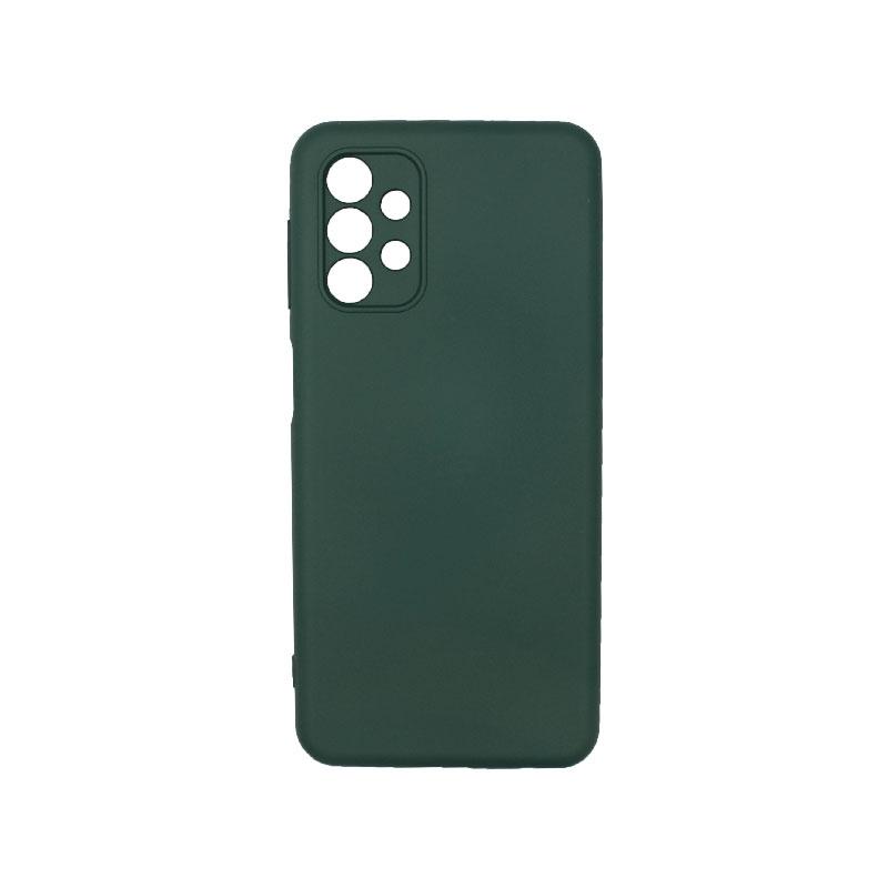 Θήκη Samsung Galaxy A32 5G Silky and Soft Touch Silicone πράσινο 1