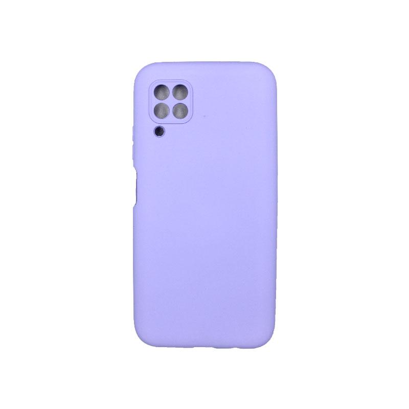 Θήκη Huawei P40 Lite Silky and Soft Touch Silicone με έσοχες μωβ 1