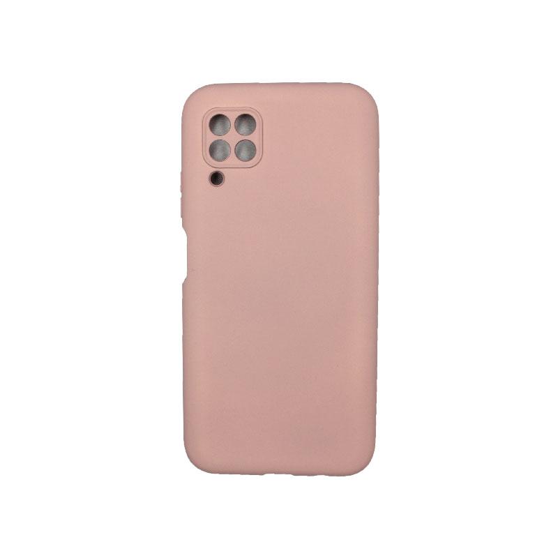 Θήκη Huawei P40 Lite Silky and Soft Touch Silicone με έσοχες απαλό ροζ 1