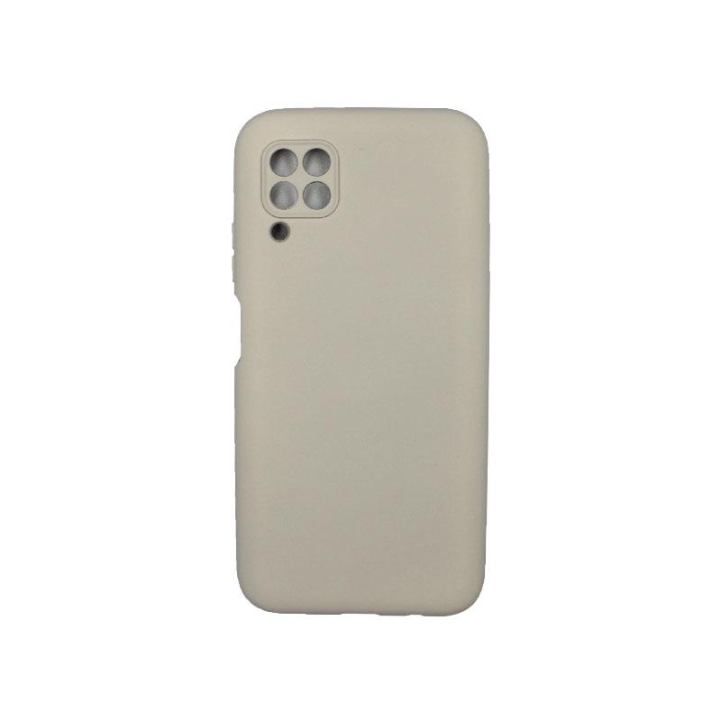 Θήκη Huawei P40 Lite Silky and Soft Touch Silicone με έσοχες γκρι 1