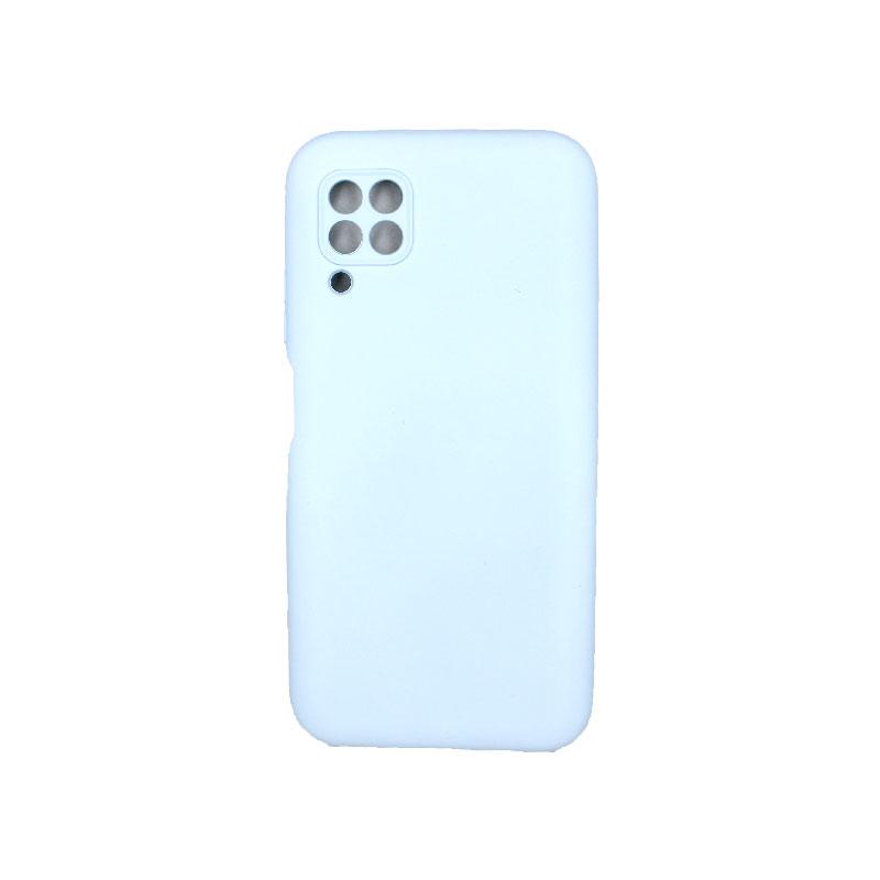 Θήκη Huawei P40 Lite Silky and Soft Touch Silicone με έσοχες γαλάζιο 1