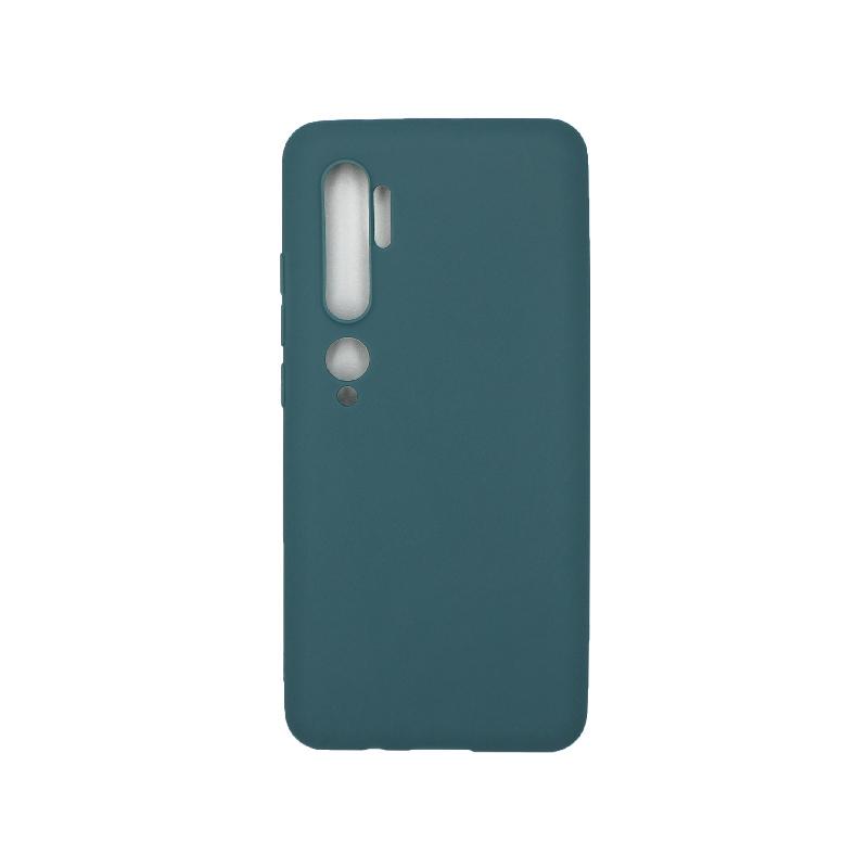 Θήκη Xiaomi Mi Note 10 / Note 10 Pro / CC9 Pro Σιλικόνη πετρόλ