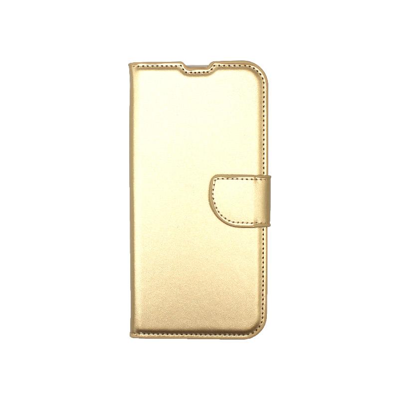Θήκη Xiaomi Redmi Note 8 Wallet χρυσό