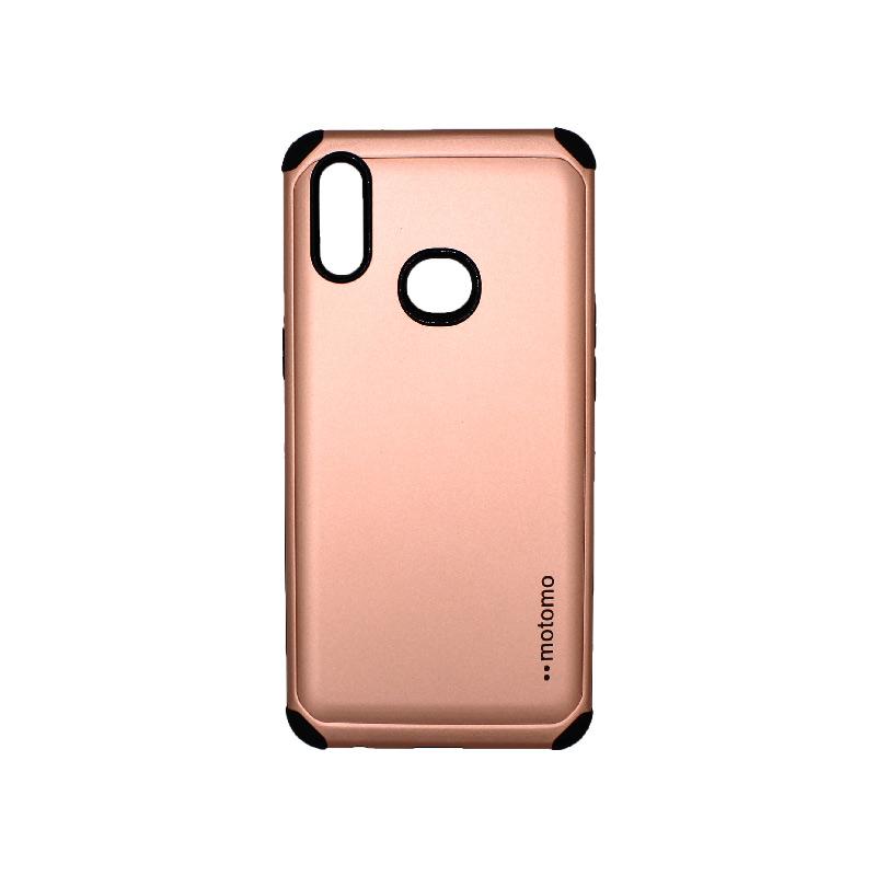 Θήκη Samsung Galaxy A10s Motomo ροζ χρυσό