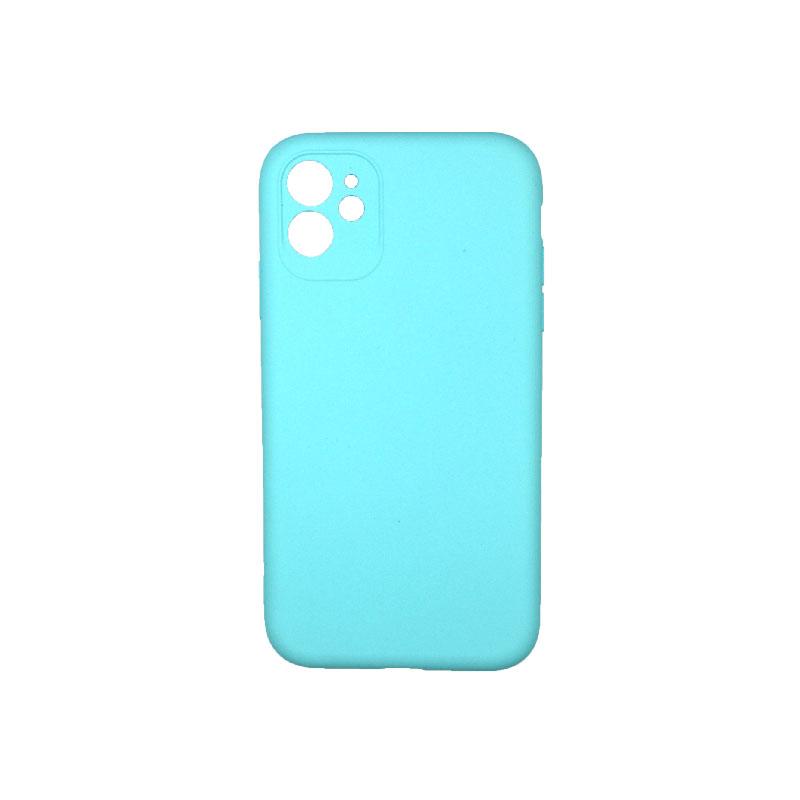 Θήκη iPhone 11 Silky and Soft Touch Silicone τιρκουάζ