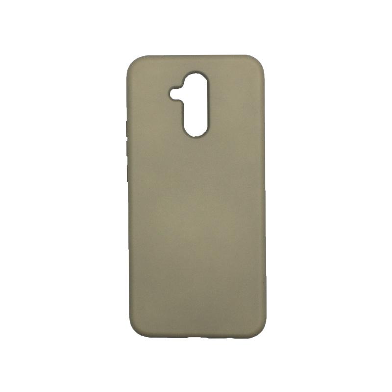 Θήκη Huawei Mate 20 Lite Silky and Soft Touch Silicone λαδί