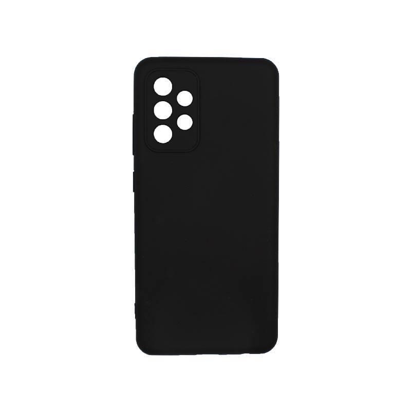 Θήκη Samsung Galaxy A52 Silky and Soft Touch Silicone Με Εσοχές Μαύρο 1