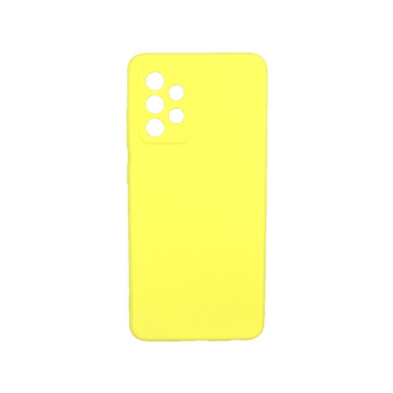 Θήκη Samsung Galaxy A52 Σιλικόνη Με Εσοχές Κίτρινο