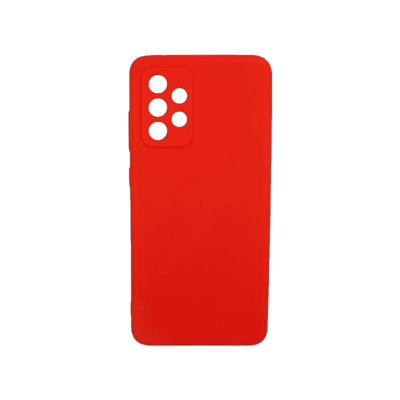Θήκη Samsung Galaxy A52 Σιλικόνη Με Εσοχές Κόκκινο