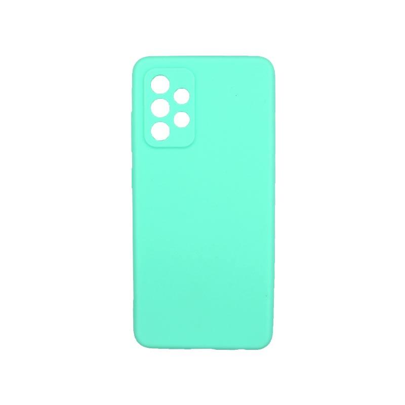 Θήκη Samsung Galaxy A52 Σιλικόνη Με Εσοχές Τιρκουάζ