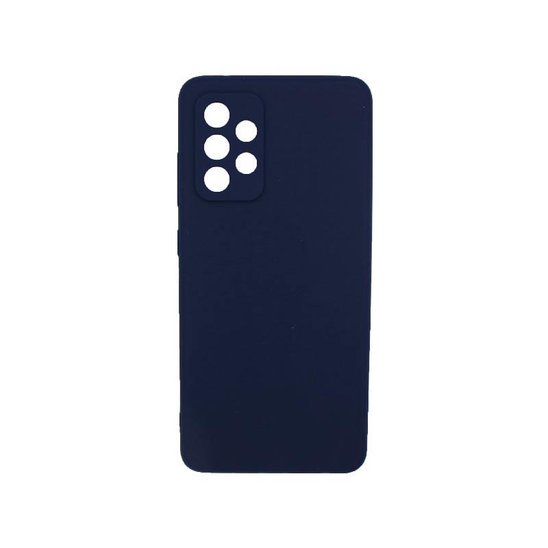 Θήκη Samsung Galaxy A52 Σιλικόνη Με Εσοχές Σκούρο Μπλε